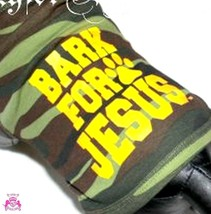 Beauty for Ashes® Bark for Jesus Camoflauge Army Dog for Christ Tank Shirt Puppy - $22.00+