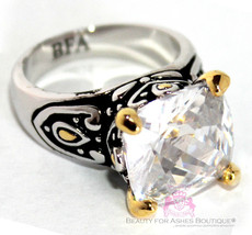 Beauty for Ashes® Ladies 12mm Throne Room Checker Cut Clear Gold Plated ... - $59.99