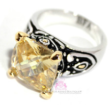 Beauty for Ashes Throne Room 12MM Pale Canary Yellow Gold Plated Dressy ... - $59.99