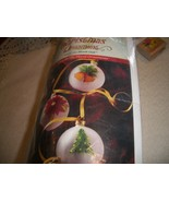 Round Frosted Glass Christmas Ornaments to Paint - $10.00