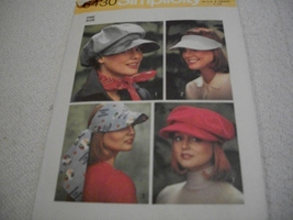 Misses Cap & Visors Pattern - $7.00