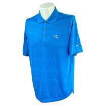 Nike Golf Men's Tour Performance Bay Hill Logo Palmer Blue Polo Shirt Me... - $27.92