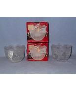 "Mikasa Holiday Classics 2 Santa 3"" Votive Candle Holders SA 520/611 Glass - $9.99"