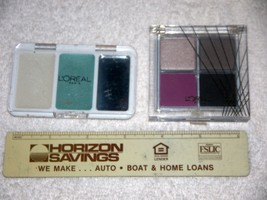 L'Oreal Color Contrasts Duo Teal Fresco & Wear Infinite Eye Shadow Quad ... - $9.41