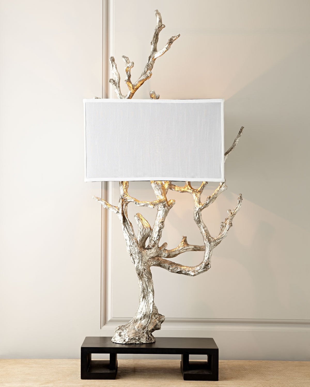 cyan design 05951 silvery mesquite table lamp oragnic console faux bois chic lamps. Black Bedroom Furniture Sets. Home Design Ideas