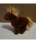 Ganz Little Brown Fluffy Horse Plush Playwear - $11.99