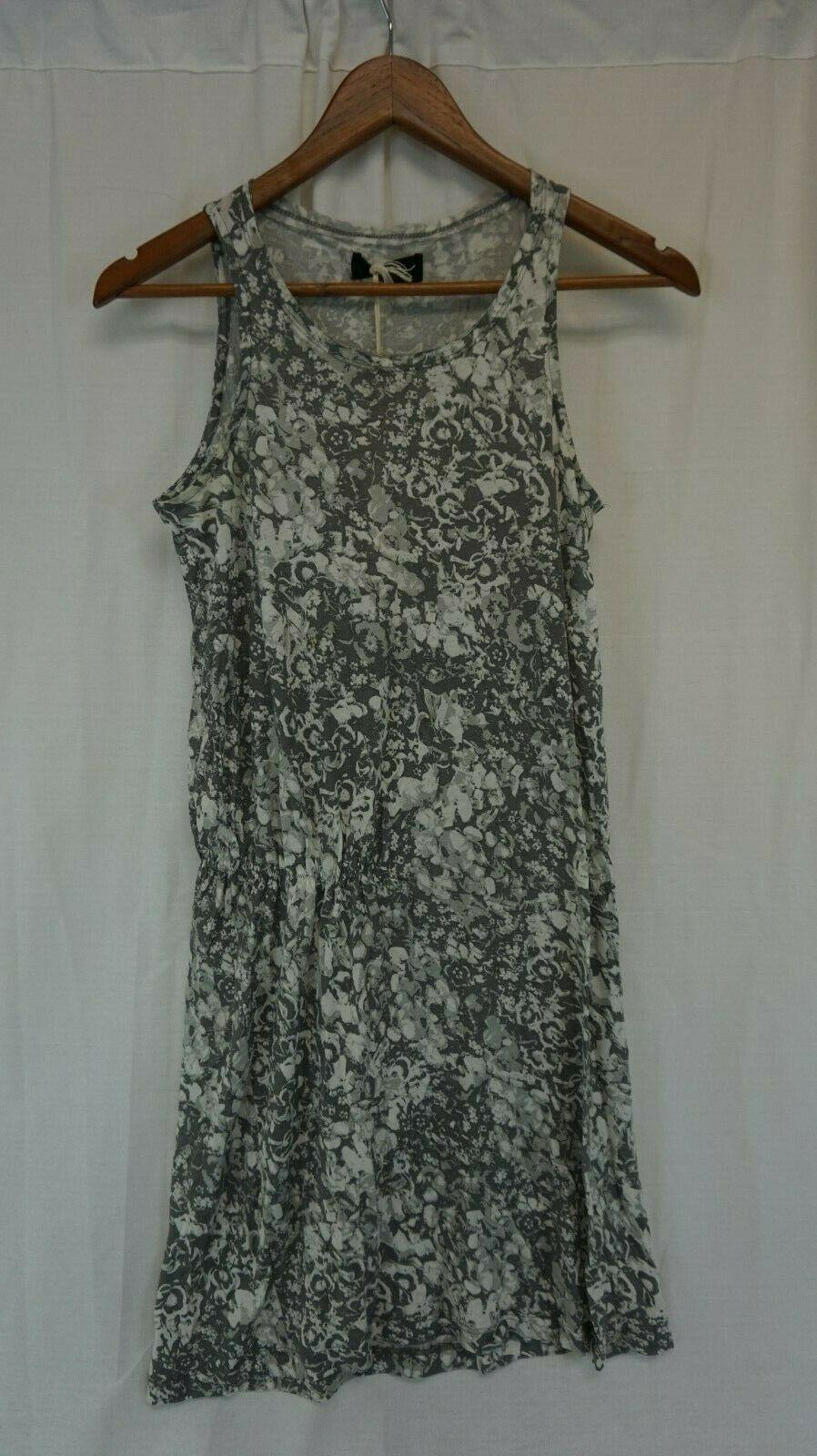 NWT DIESEL Women's Gray Floral D-Akir-B Scoop Neck Shift Dress XS