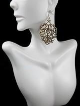 Premier Designs Gold Tone Metallic Darcy Drop Dangle Pierced Earrings New - $9.16