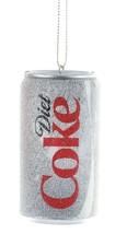 Kurt Adler Coca Cola Dieta Lata Navidad Árbol Ornamento Blow Moldeado Plástico