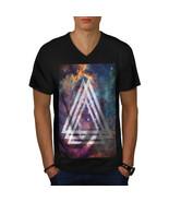 Space Triangle Shirt Shapes Men V-Neck T-shirt - $12.99+