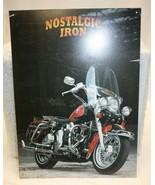 "Harley-Davidson Style Tin Sign – NOSTALGIC IRON Tin sign approx. 12.5"" X... - $19.79"