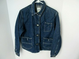 Vintage Lee Women's Size Medium Riveted Dungarees Button Front Denim Jac... - $14.01