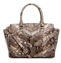 MICHAEL KORS selma medium top zip satchel embos... - $206.91