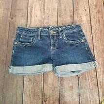 Gap Kids Denim Cuffed Shorts Size 12 Dark Wash - $17.82