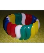"""Vintage 80's AVON """"Summer Brights"""" Stretch Bracelet Multi-Color Red Blue... - $7.00"""