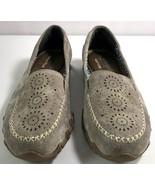 Skechers Womens Relaxed Fit Memory Foam Loafers Size 8 Light Brown Slip ... - $44.95