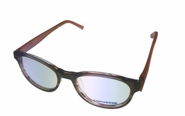 Converse Ophthalmic Mens Semi Round Brown Stripe Plastic Frame Q014 48mm - $35.99