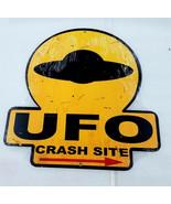 """16"""" HUGE UFO alien spaceship crash site arrow direction USA Steel Metal ... - $64.35"""
