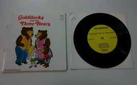 Goldilocks And The Three Bears Telebook Series Book And Record Vintage 1... - $9.89