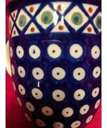Polish Pottery Coffee Cup Mug Handmade In Poland Boleslawiec  Circle Des... - $16.15