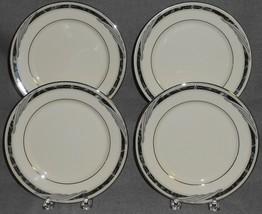 1990s Set (4) Lenox CITY CHIC PATTERN Dessert or B&B Plates MADE IN USA - $29.69