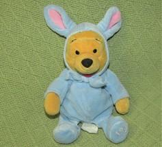 Vintage 1999 Disney Store Blue Easter Bunny Pooh B EAN Bag Stuffed Animal Plush - $9.90