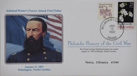 1/13/1992 Philatelic History Civil War Admiral Porter's Forces Attack Ft... - $9.99