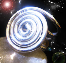 HAUNTED SPIRAL RING THE  MASTER CIRCLE DRAW THE MASTERS POWER SECRET OOAK MAGICK - $8,888.77