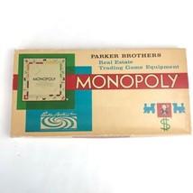 Vintage 1961 Monopoly Board Game Complete Parker Brothers Real Estate Tr... - $29.69