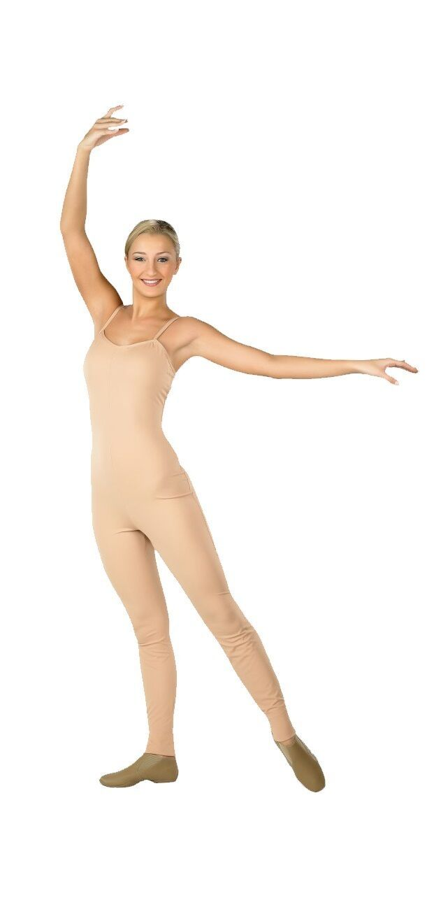 Primary image for Body Wrappers 202 Adult Size Medium (8) Scoop Neck Nude Camisole Unitard