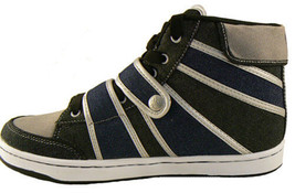 Public Royalty Schwarz Blau Zaq Hoch Top Denim Sneaker Schuhe Ovp