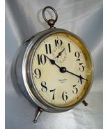 Antique WESTCLOX Silver Nickel BIG BEN Peg Leg Alarm Clock (White Face) ... - $73.40