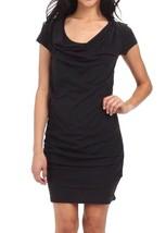 Bench Damen Freizeit Kleiner Schwarz Twistout T-Shirt Strandkleid BLSA1606 Nwt image 1