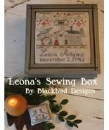 Leona's Sewing Box cross stitch chart Blackbird Designs  - $8.10