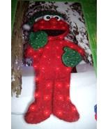Sesame Street 32 Inch Elmo Lighted Christmas Sculpture Tinsel 70 Lights NEW - $70.00
