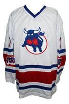 Any Name Number Toronto Toros Retro Hockey Jersey New White Any Size image 1