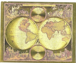 World Map Frederik De Wit Collectible 8X10 Gold Foil Print - $7.99