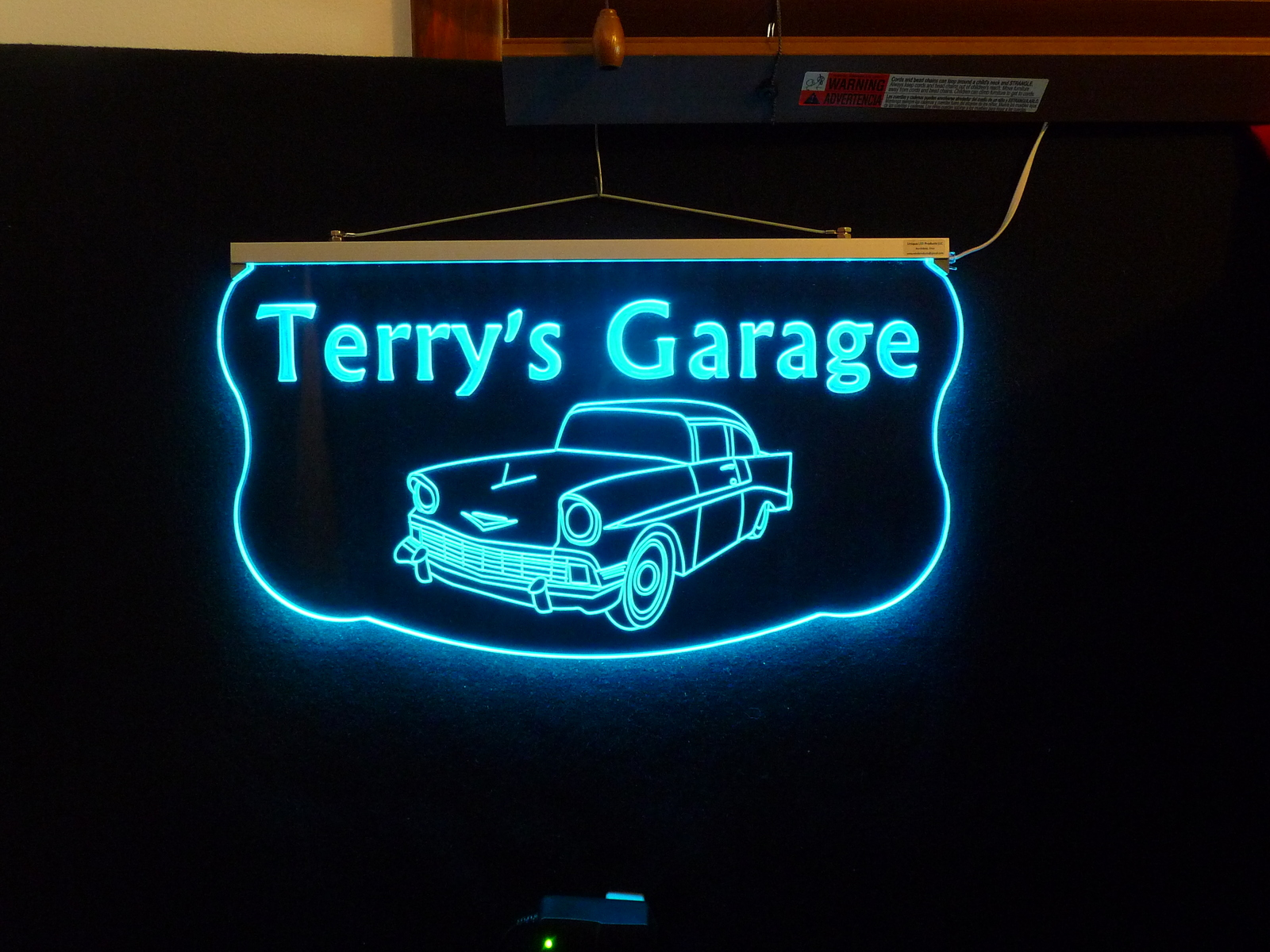 Man Cave Led Signs : Personalized garage man cave family name sign custom