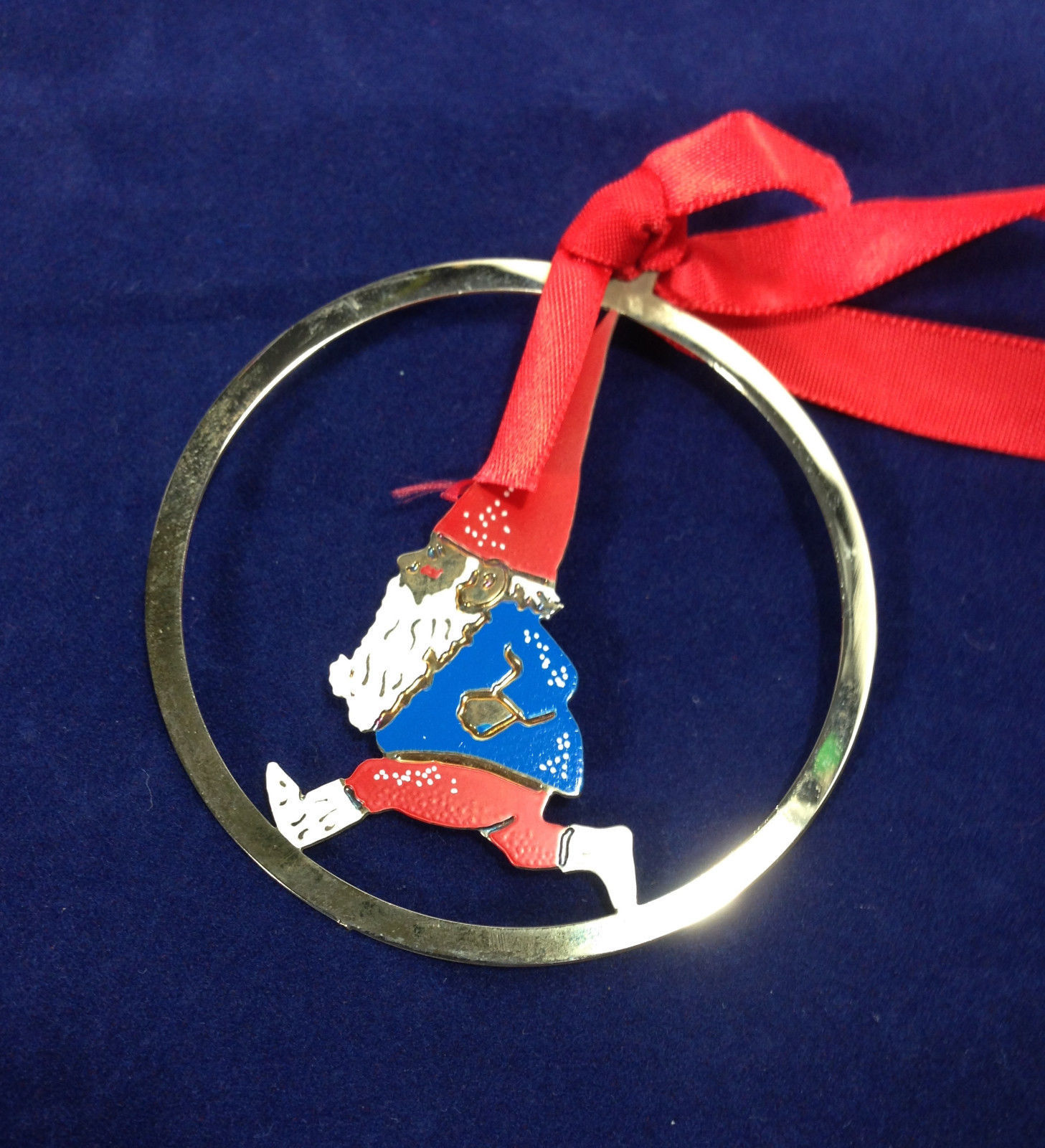 Gnomes Towle Silversmiths Running Gnome Christmas Ornament ...