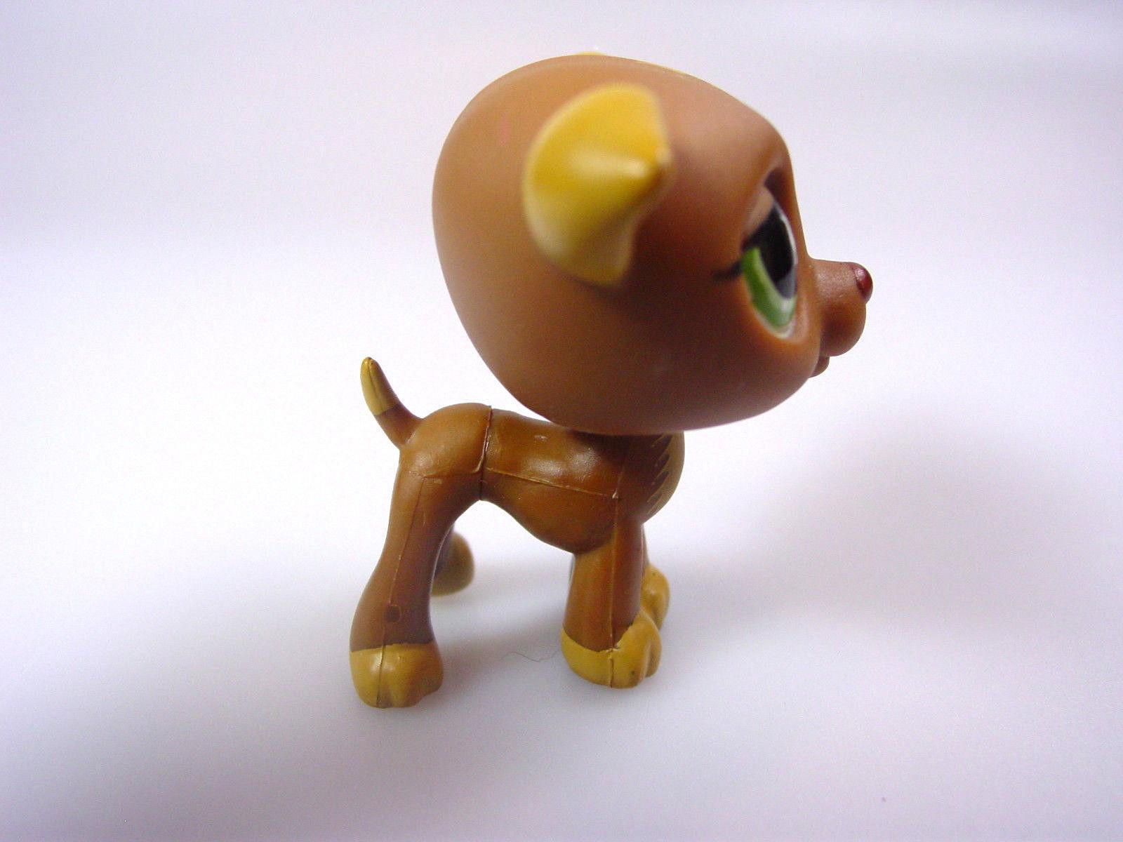 Littlest Pet Shop #507 Brown Greyhound Whippet Puppy Dog drops on head