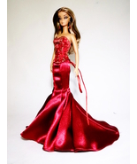 Handmade Red Mermaid Dress For Barbie Silkstone Doll - £25.18 GBP