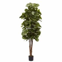 Nearly Natural 5346 Fiddle Leaf Fig Tree, 6-Feet, Green - €127,11 EUR