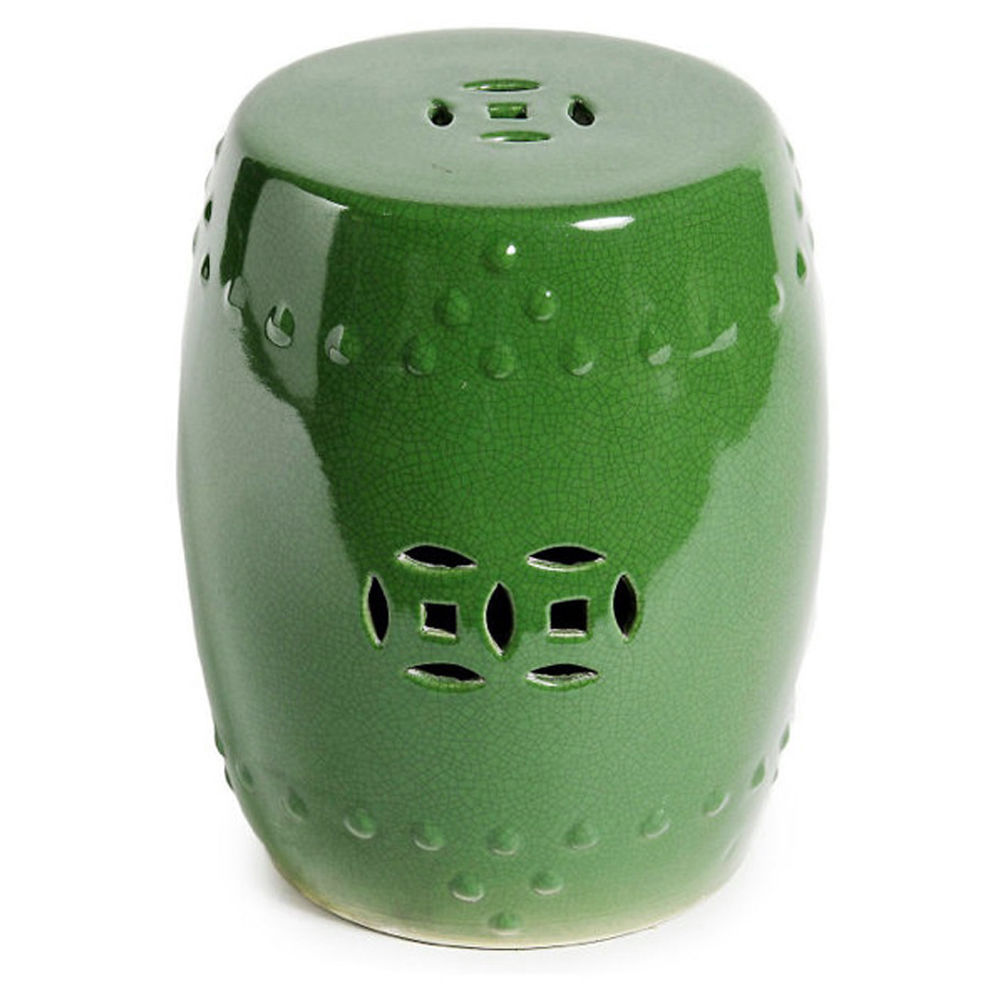 Green Crackle Eternity Chinese Garden Stool Indoor