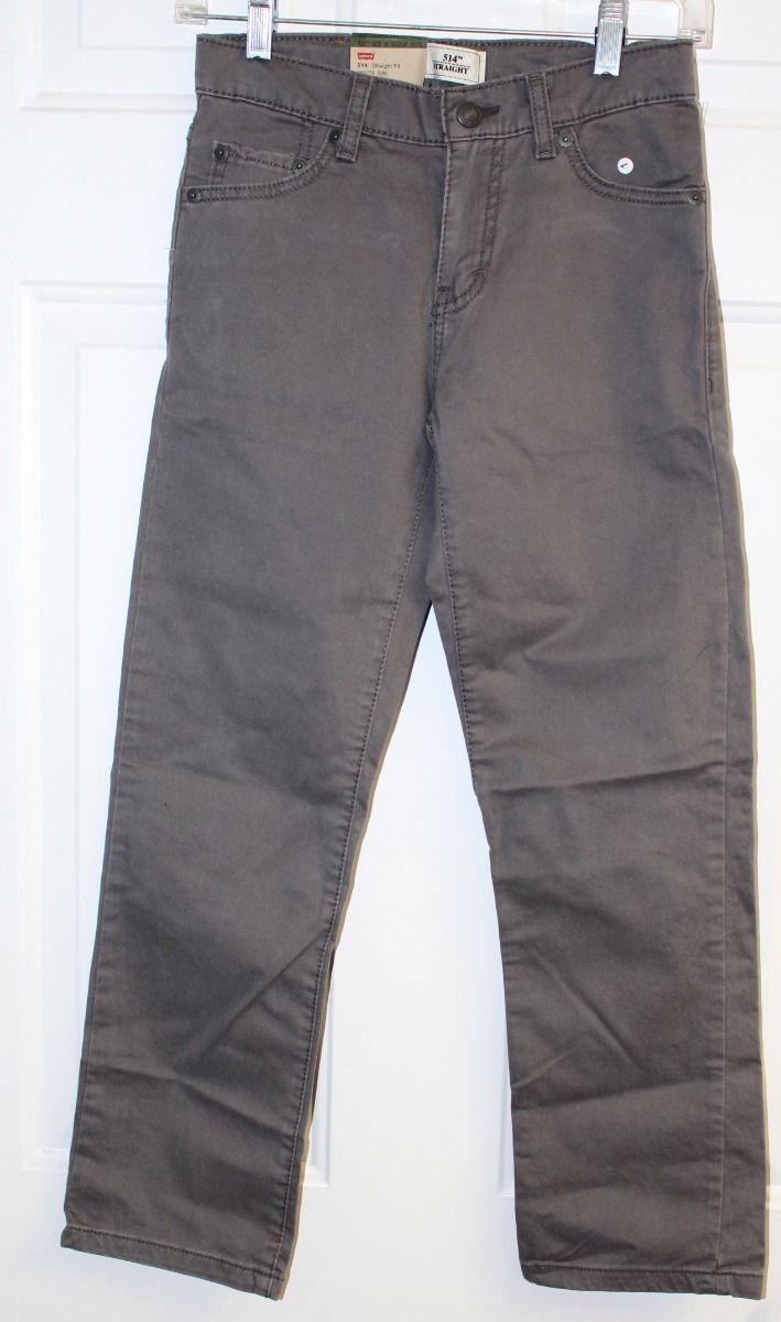 Kids Levis 514 Straight Fit Gray Jeans w/ adjustable waistband  10REG (25W 25L) - $15.05