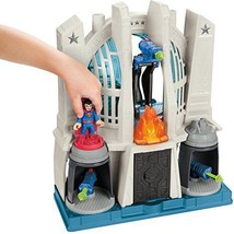 Fisher-Price DC Comics Justice League Hall Playset Batman Figure Accesso... - $55.49