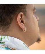 Men's Hip Hop Gold Diamond Hoop Earrings - £19.36 GBP