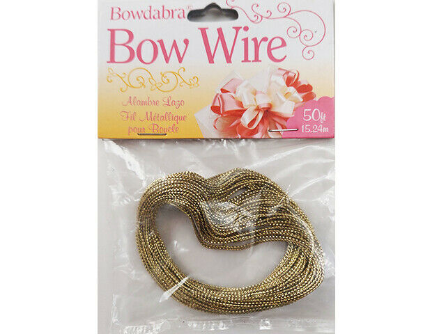 Bowdabra Bow Wire, Gold, 50 Feet #BOW3030