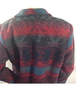 Boho South-West Prairie Wool Blanket Jacket Coldwater Creek Ornate Butto... - $39.11