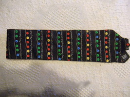 HOLIDAY TRADITIONS Hallmark Christmas Tree Lights Tie 100% Silk Multicol... - $11.88