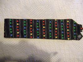 HOLIDAY TRADITIONS Hallmark Christmas Tree Lights Tie 100% Silk Multicol... - $11.88